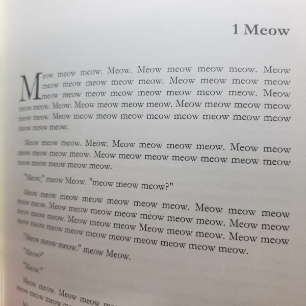 Meow Chapter 1 photo featuring nothing but the word Meow
