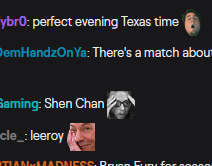 A few examples of twitch emotes from an active Twitch stream